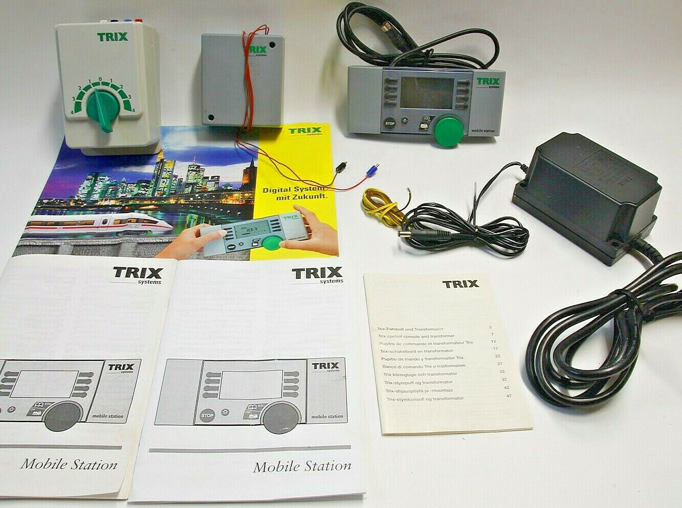 N escala 1 160 Trix Selectrix trenes transformer, 309701, mobile station, lote