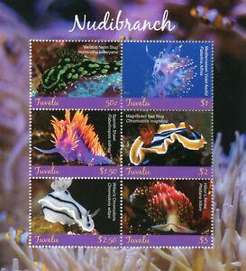 Tuvalu 2018 Neuf Sans Charnière Nudibranches Sea Neon Limace Aeolid 6 V M/s Animaux Marins Timbres-afficher Le Titre D'origine