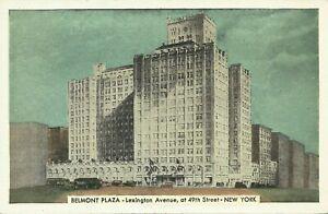 Belmont-Plaza-Hotel-Lexinton-Avenue-Lumitone-1930s-New-York-City-Postcard