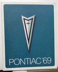 NOS-1969-Pontiac-Dealer-Prestige-Sales-Brochure-Bonneville-GTO-Tempest-LeMans
