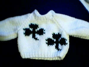 Customized-Two-Shamrocks-Sweater-Handmade-for-18-inch-Build-A-Bear