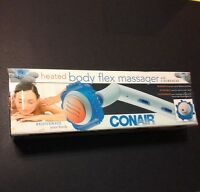 Conair Heated Body Flex Handheld Massager With 6 Surfaces Model Wm200x