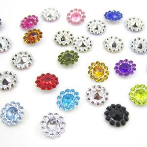 NEW-50PCS-plastic-crystal-round-sunflowers-Scrapbooking-craft-Wedding-decoration