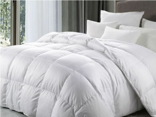 Double Bed Size All Season Tog 100 White Duck Feather Duvet Quilt