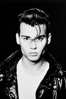 JOHNNY DEPP CRY BABY B&W 24X36 POSTER PRINT