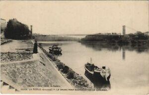 CPA La RÉOLE-Le Grand pont suspendu sur la Garonne (28471)