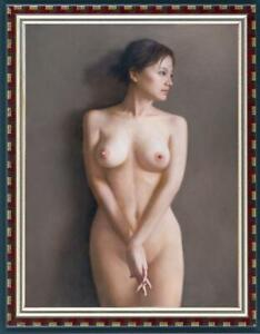 Hand-painted-Original-Portrait-Oil-Painting-art-nude-Girl-on-canvas-24-034-x36-034