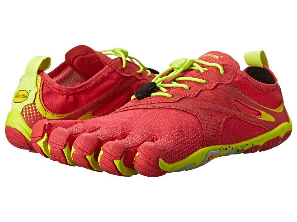 VIBRAM Fivefingers Bikila Evo 15W3102 Red Yellow Barefoot Running shoes Sandal 36
