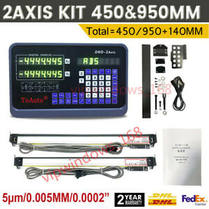 2-Axis-Digital-Readout-Milling-Lathe-Machine-DRO-KIT-Linear-Scale-450-amp-950MM