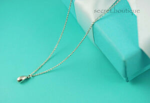 AUTHENTIC-Tiffany-amp-Co-Sterling-Silver-Teardrop-Necklace-16-034-273