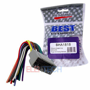 image is loading bha1818-aftermarket-radio-replacement-wire-harness -for-chrysler-