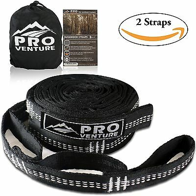 Pro Hammock Tree Hanging Straps (Set of 2)  1200LB Tested Adjustable 30+2 Loo...