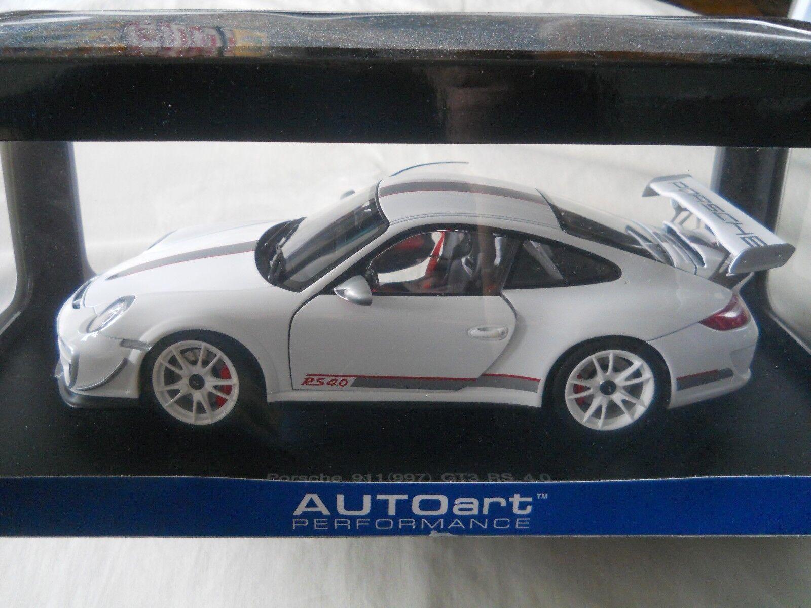 bilAR Porsche 911 (997) GT3 RS 4.0 vit 1 18 tärningskast