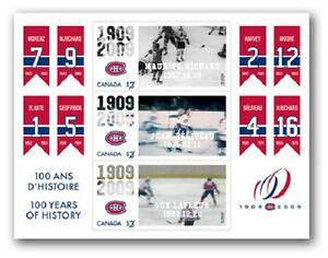 Montreal Canadiens, 100th Anniversary - Lenticular Souvenir Sheet Stamps