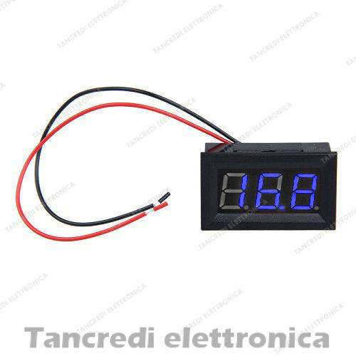 Voltmetro digitale 3.5V 30V da pannello blu modulo display misuratore arduino