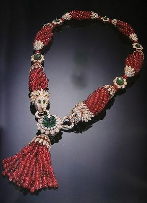 Sparkling Unique Styl 6.50Ct RoseCut Diamond Ruby Necklace