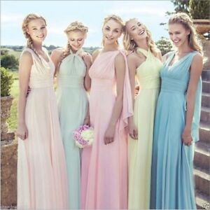 Image Is Loading New Multi Way Convertible Bridesmaid Wedding Party Formal