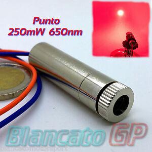 MODULO-LASER-250mw-650nm-PUNTO-ROSSO-FUOCO-regolabile-module-industrial-grade