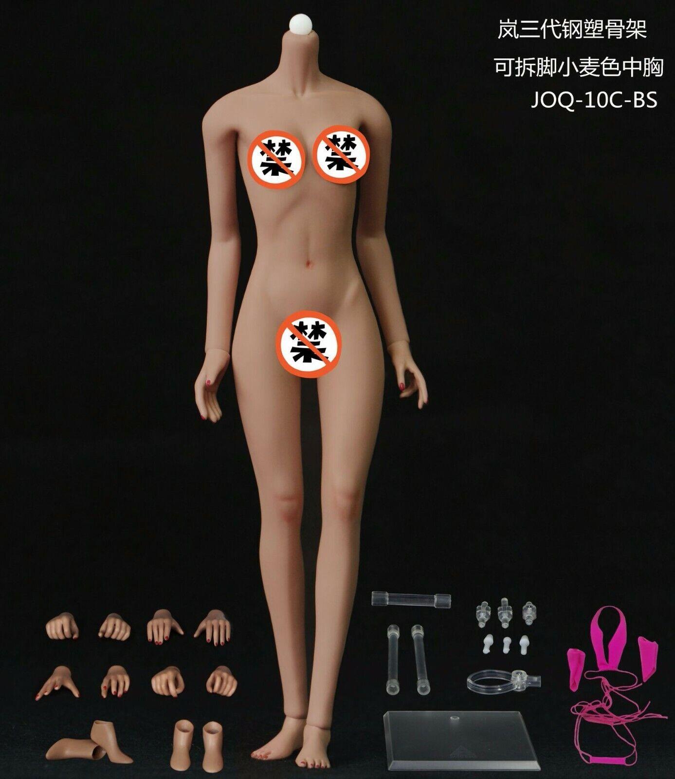 JIAOU bambola 1 6 Suntan Skin Female corpo JOQ-10C-BS JOQ-10C-BS JOQ-10C-BS 12'' Mid autobust Detachable Feet d2926d