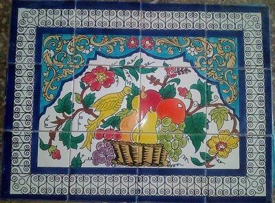 decorative handmade painted ceramic tiles arabic mural ...