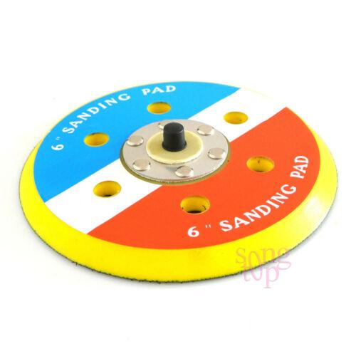 Backed Hook Face 6 Inch Sanding Polishing Pad 5//16-24 TPA For DA Sander