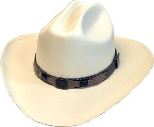 New-Pink-or-Cream-Cattleman-Canvas-Cowboy-Cowgirl-Hat-Western-Kids-Sizes
