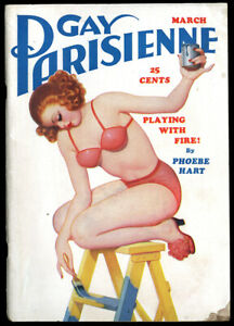Spicy-Pulp-Gay-Parisienne-Enoch-Bolles-Magazine-March-1938-Pin-up-Painter-Girl