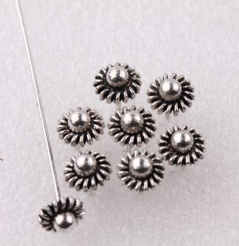 20//100X 50 mm argent plaqué or Métal Tête//COURONNE//bille Pins Charme Cadeau Bijoux