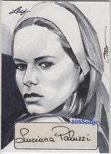 2013 POP CENTURY STEVE STANLEY SKETCH AUTO:LUCIANA PALUZZI #1/1 OF ONE AUTOGRAPH