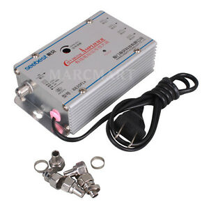 Cable-TV-Signal-HDTV-Booster-4-Port-VHF-Video-Amplifier