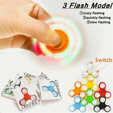 50X LOT LED LIGHT ON OFF SWITCH FIDGET SPINNER TOY 3 MODES FOR AUTISM ADD ADHD