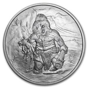 1 OZ .999 SILVER COIN GARM HELLHOUND NORDIC CREATURE SERIES 4TH IN SERIES #CERT