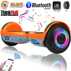 6-5-034-Bluetooth-Hoverboard-LED-Self-Balancing-Electric-Scooter-UL-Orange-No-Bag