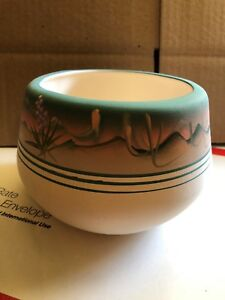 """Pottery,collectible Southwest 4"""" Tall Hand Painted & Signed Free Shipping Yet Not Vulgar Pottery & Glass Pottery & China"""