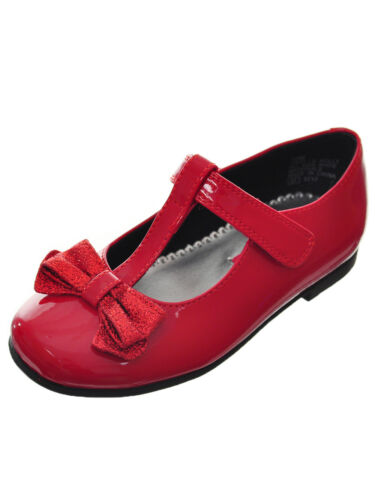 New Rachel Patent Girl Shoes Toddler and Youth Sizes Black and Red