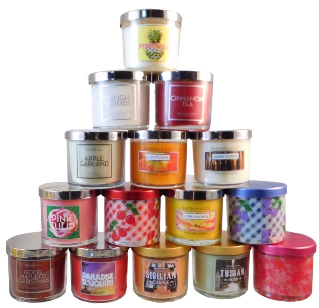 Bath & Body Works, Slatkin, White Barn Filled and Scented Candles 4 oz