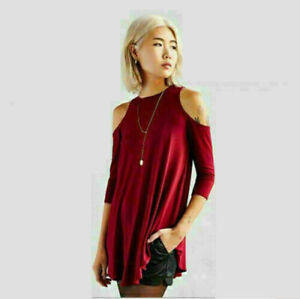 Fashion-Women-Long-Sleeve-T-Shirt-Off-Shoulder-Casual-Loose-Shirt-Blouse-Tops