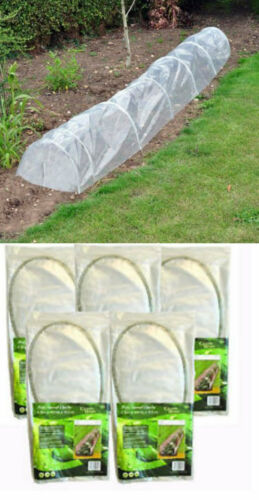 5X New 1.5m Allotment Plant Protector Cloche Mini Garden Poly Tunnel Greenhouse