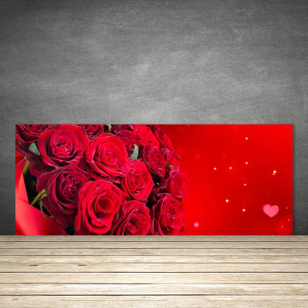Crédence de cuisine en verre Panneau Panneau Panneau 125x50 Floral Rosas 7708c8
