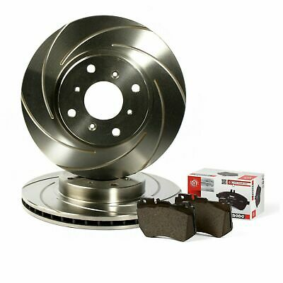 Honda Civic 2.2 CTDI Front Rear 40G Grooved Brake Discs with Mintex Pads