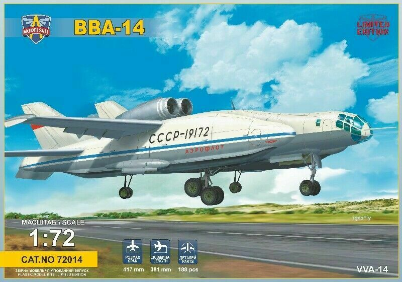 BARTINI BERIEV VVA-14 MODELSVIT 1 72 Plastic Kit