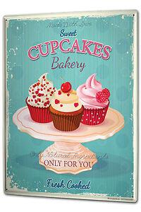 Tin Sign XXL Nostalgic Fun Cupcakes metal plate plaque