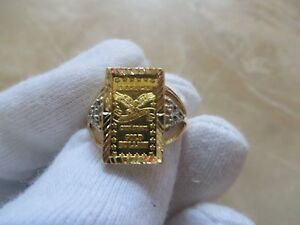 American 999 Gold Bullion Diamond Ring