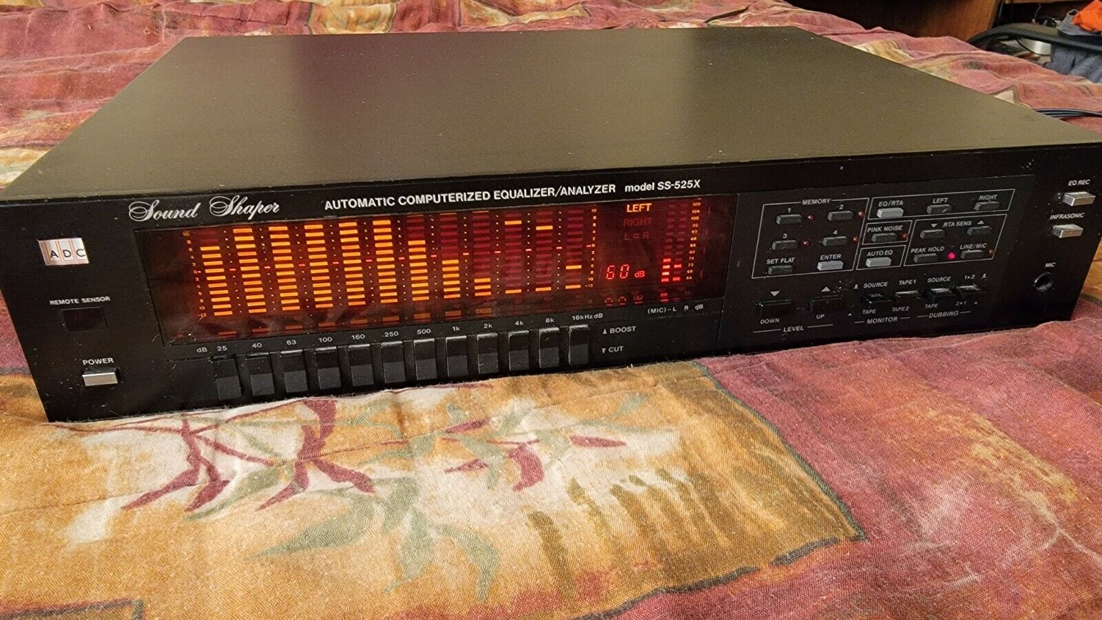 ADC Sound Shaper SS-525X equalizer spectrum analyzer no remote good shape . Buy it now for 399.00