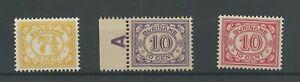 Suriname-84-86-Cijfer-MNH-postfris-CV-40-PRACHT
