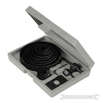 Coffret scies-cloches 16 pièces. 19 - 127 mm. Silverline 633729