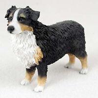 Australian Shepherd Tri-color Hand Painted Collectible Dog Figurine