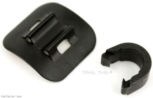 Hose Cable Guides w// C-Clips Black Jagwire Alloy 3M Stick-On Bike Housing 4