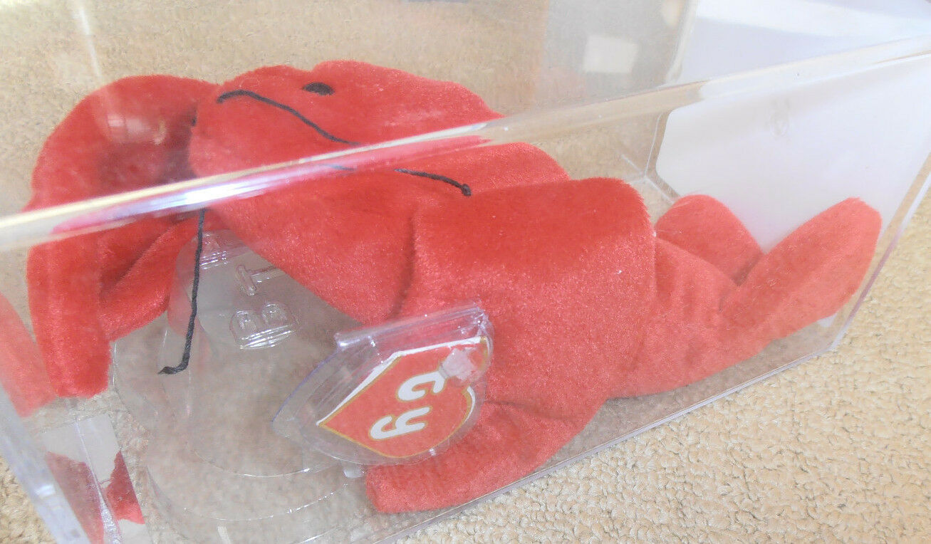 RARE Authenticated 2nd gen Ty Pinchers Beanie Baby 2nd Hang   1st Tush