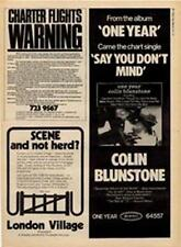 Colin Blunstone Zombies One Year LP advert Time Out cutting 1972